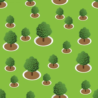 3d forest trees pattern