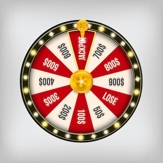 3d fortune gambling spinning casino jackpot wheel.