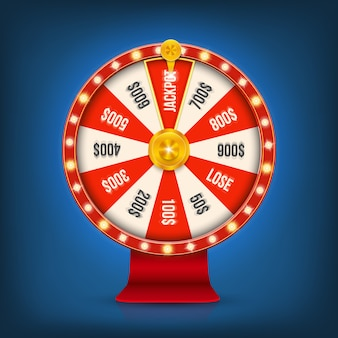 3d fortune gambling spinning casino jackpot wheel.