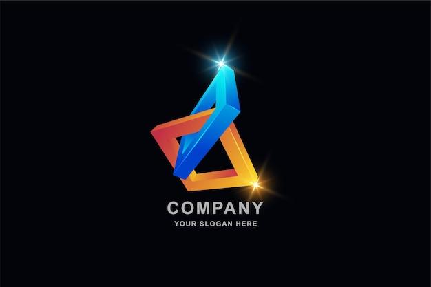 3d 프레임 사각형 로고 디자인 서식 파일