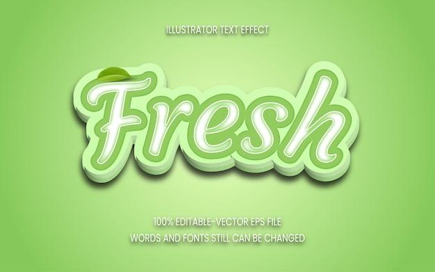 3d fresh text effect editable