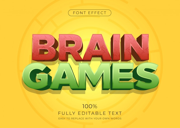 3d fun text effect. editable font style