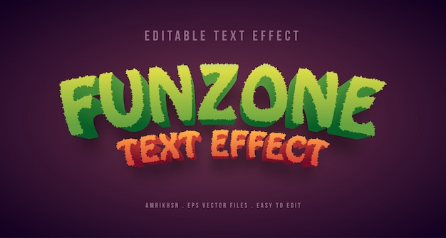 3d funzone text effect