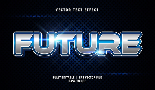 3d future text effect, editable text style
