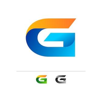 3d手紙gロゴデザインテンプレート