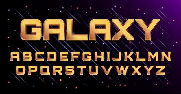 3d galaxy cosmic space font alphabet set
