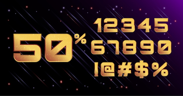 3d galaxy cosmic space font number set