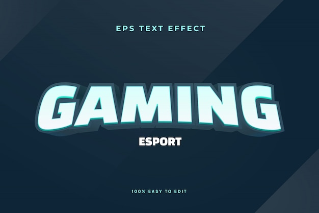 3d gaming esport logo text effect
