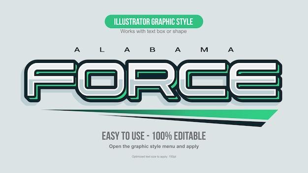 3d игровой зеленый футуристический игровой текстовый эффект
