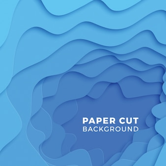 3d geometric background with realistic paper cut layers.