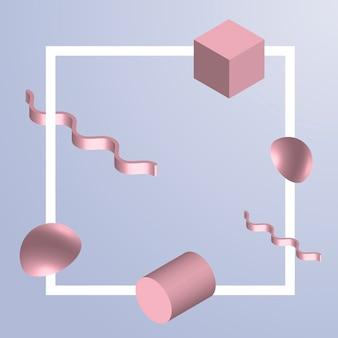 3d geometric element background