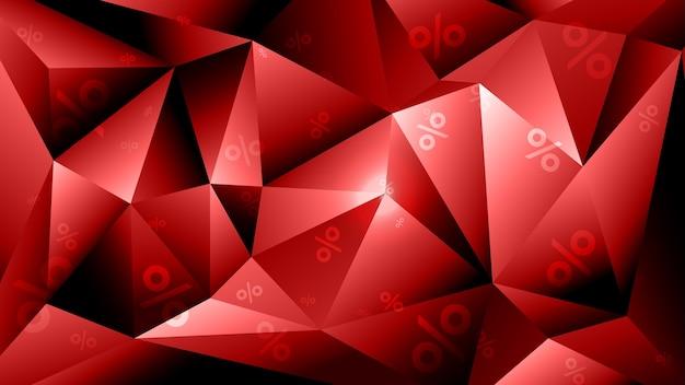 販売の招待状の3d幾何学的な多角形の背景。 blsck金曜日のセールテンプレート。