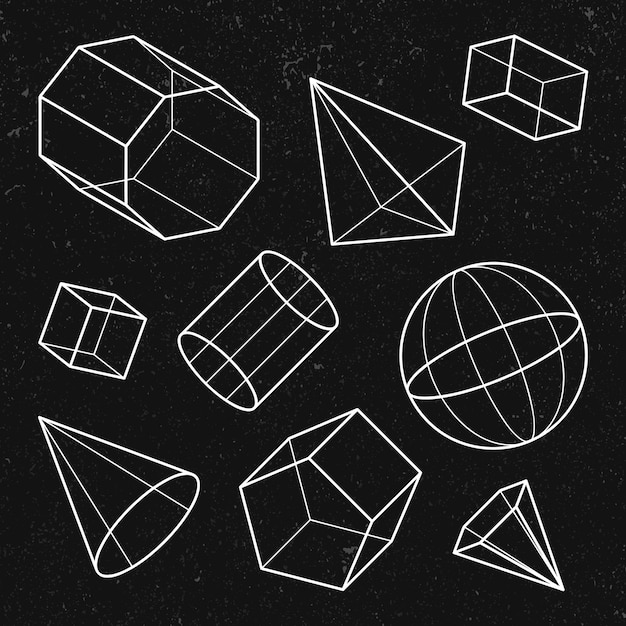3d geometric shape set
