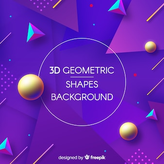 3d geometric shapes backgound