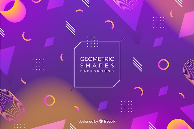 3d geometric shapes background