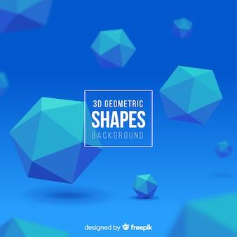 3d geometric shapes background