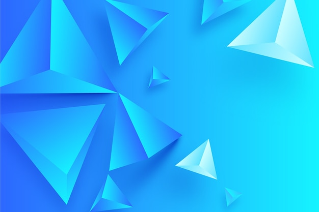 3d geometrical shapes concept for background