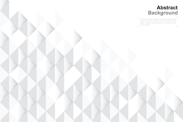 3d geometry background in paper art style for template design.