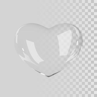 3d стеклянное сердце.