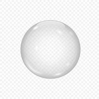 透明に分離された3 dのガラス球