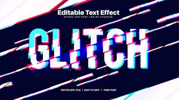 Редактируемый текстовый эффект нарезки 3d-глюк
