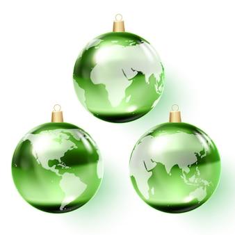 3d глобус стеклянный шар