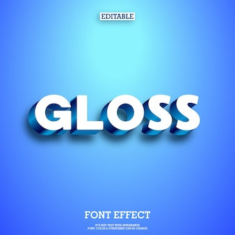 3d Gloss & Shine Text Effect With Shadow