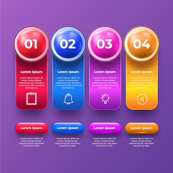 3d glossy infographic collection theme