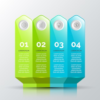 3d glossy infographic concept