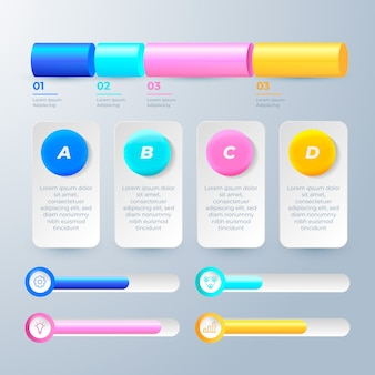 3d glossy infographics template