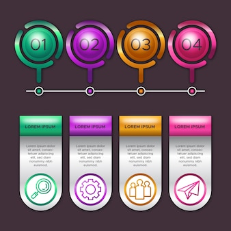 3d glossy infographics theme