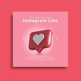 3d глянцевый значок instagram как изолированные