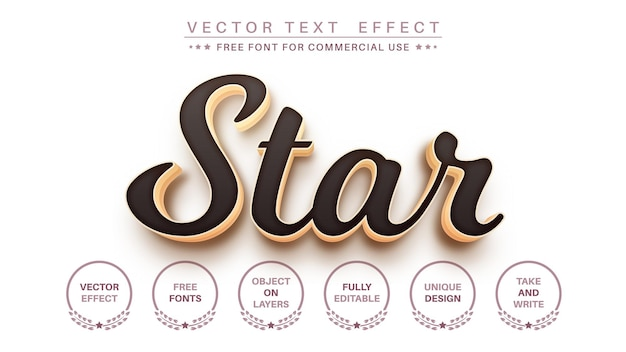 3dゴールドの編集可能なテキスト効果フォントスタイル