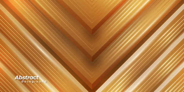 3d golden background with shining lines.