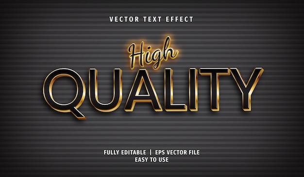 3d 황금 고품질 텍스트 효과, 편집 가능한 텍스트 스타일 프리미엄 벡터