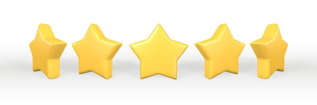 3-я золотая звезда. реалистичная 3d желтая звезда.