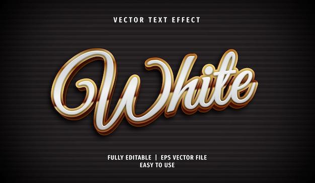 3d 황금 흰색 텍스트 효과, 편집 가능한 텍스트 스타일