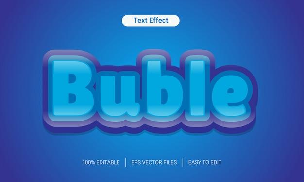 3 dグラデーションクールな柔らかい色bubleテキストスタイル効果
