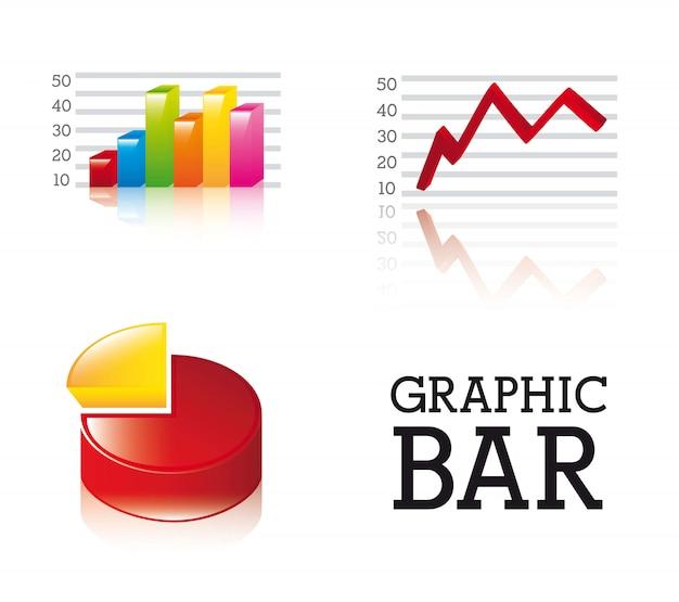 3d graphic bar over white background vector illustration
