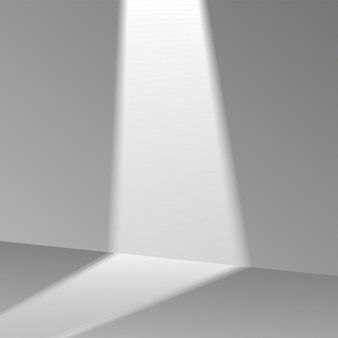 3d gray stage background product showcase display podium scene with soft shadow. vector illustration.