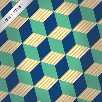 3d green and blue hexagon