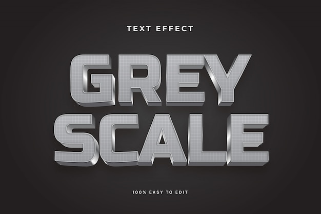 3d grid greyscale text effects