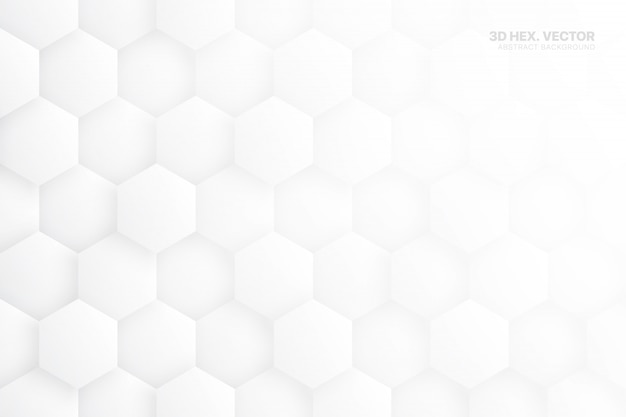 3d hex blocks white abstract background