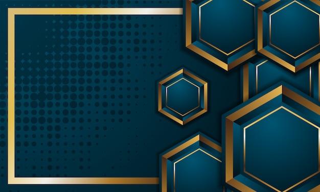 Шаблон 3d шестиугольника. графический дизайн вектора абстрактный картина многоточия. синий фон