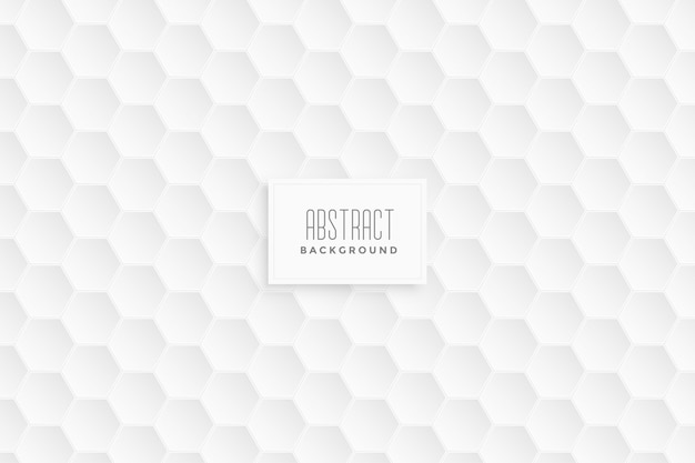 3d hexagonal white pattern background