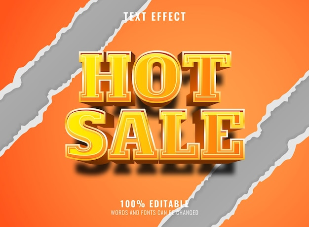 3d hot sale banner with torn paper background editable text effect