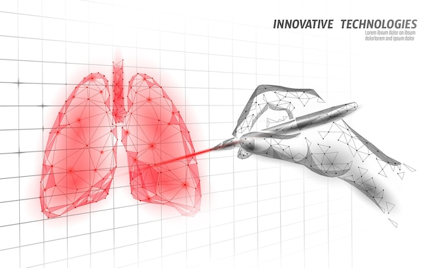 3d human lungs medicine graph research concept