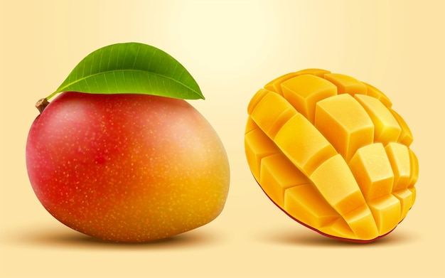 3d 그림 망고 과일