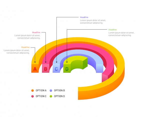 ビジネス成長の3dイラストレーション