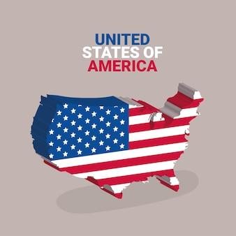 アメリカの 3 d イラストレーション